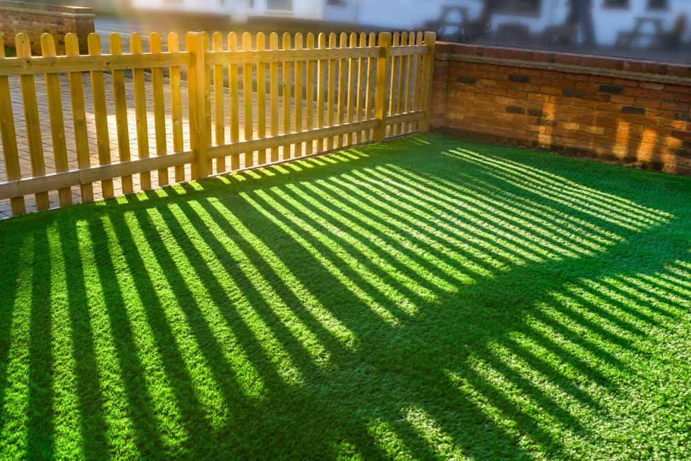 Yard with artificial grass