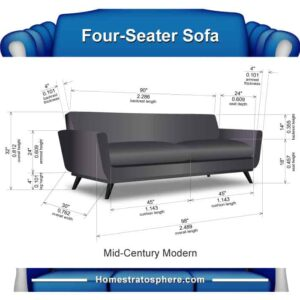 Sofa dimensions for 4 people (chart)