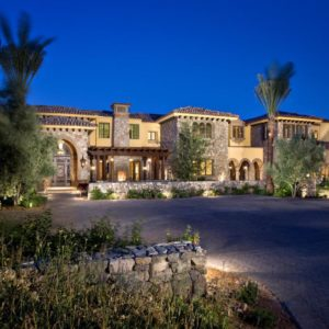 Front view of Arizona mansion
