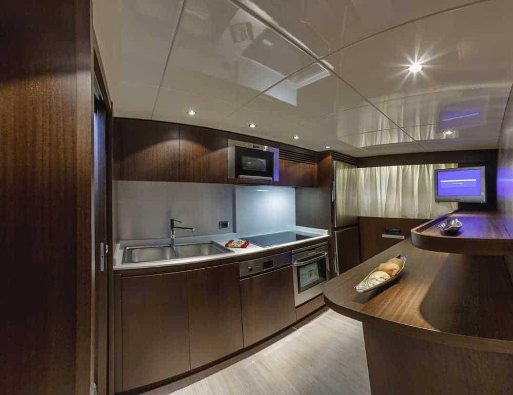 100 foot luxury yacht kitchen interior