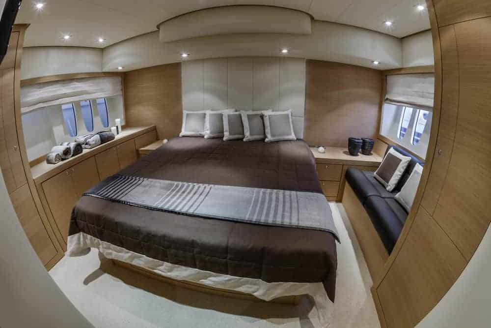 Abacus 52 luxury yacht primary stateroom
