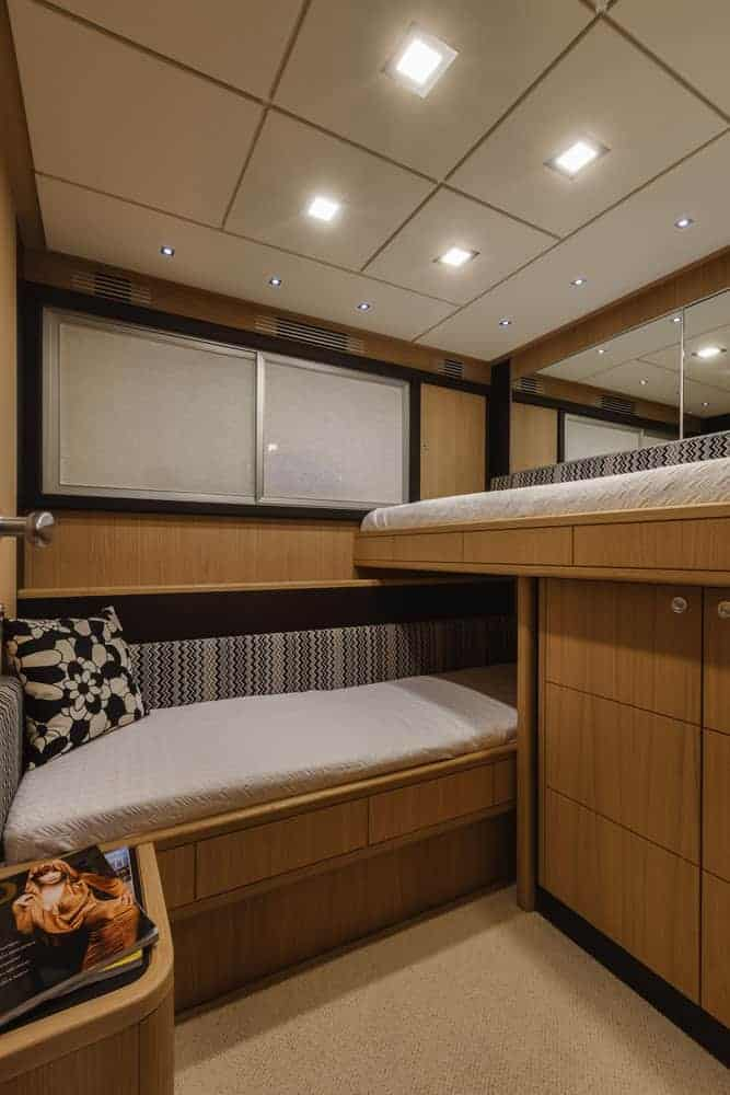 Abacus 70 luxury yacht l-shape bunk bed