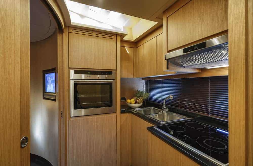 Alfamarine 72 luxury yacht kitchen