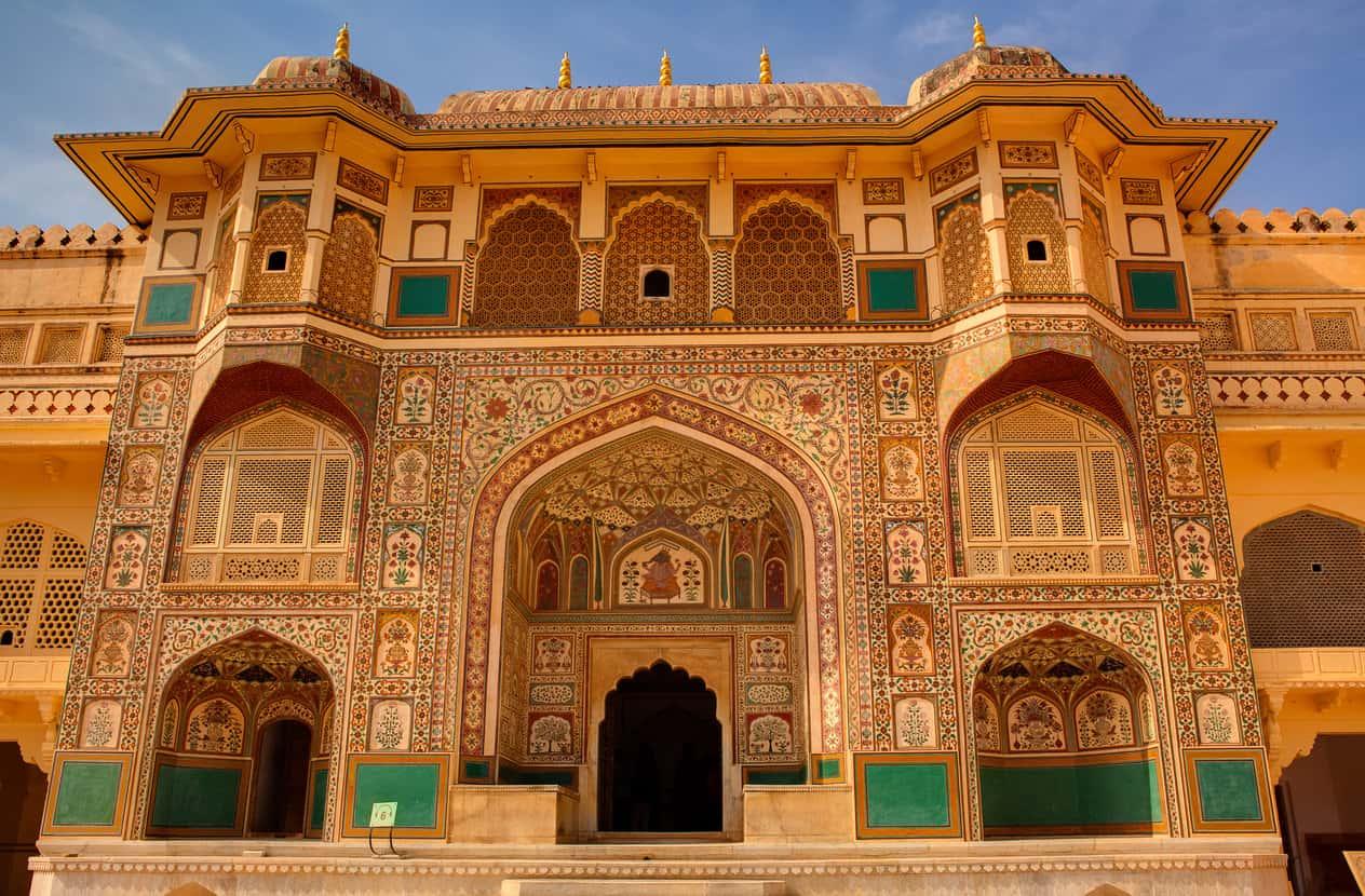 Amber Fort courtyard in Jaipur Rajasthan, India