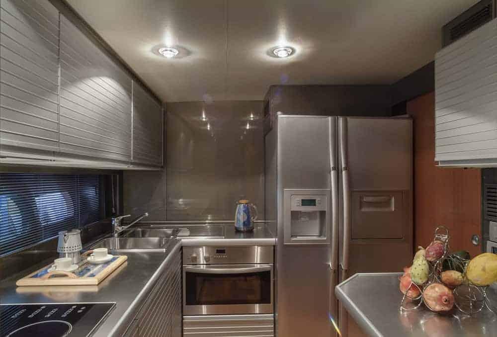 Atlantica luxury yacht kitchen