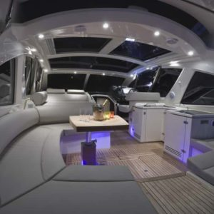 Azimut Atlantis 50 foot yacht interior design