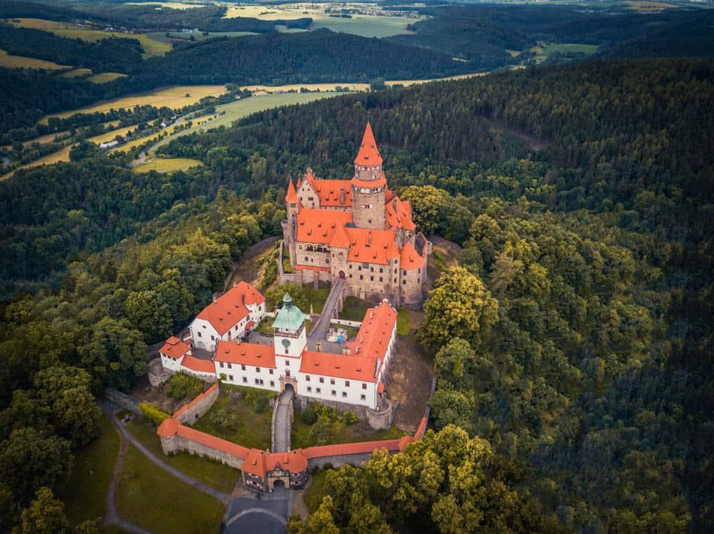 Bouzov Castle (aerial view)