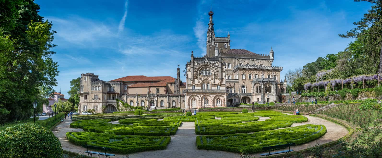 Bussaco Palace near Luso in Portugal