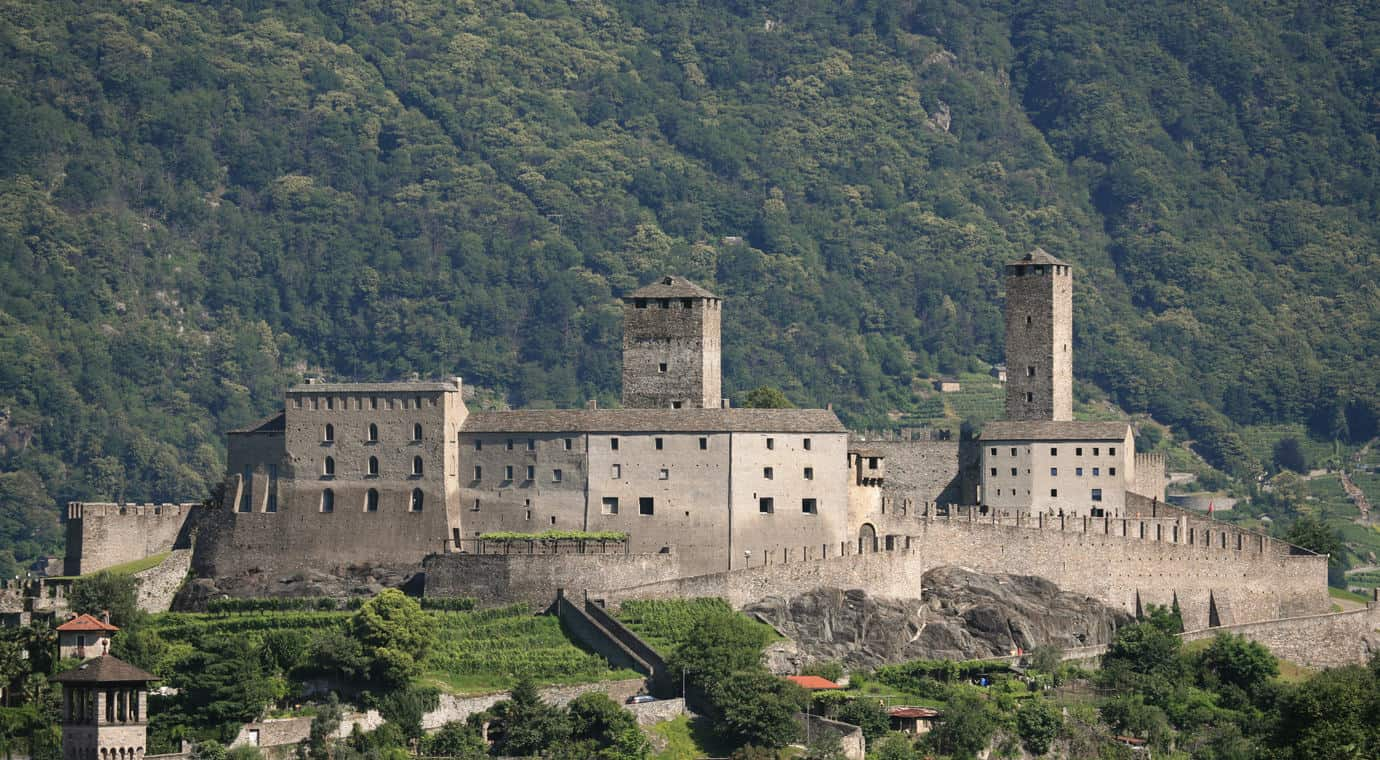 Castelgrande in Bellinzona Switzerland