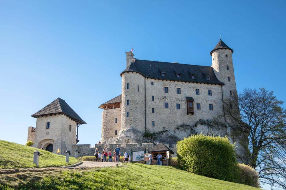 Castle in the village of Bobolice