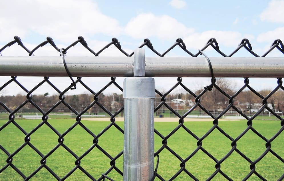 Chain link fence for perimeter