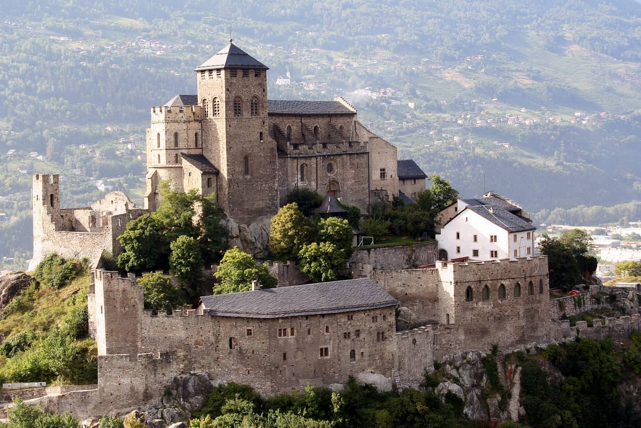 Chateau de Tourbillon, Sion, Switzerland