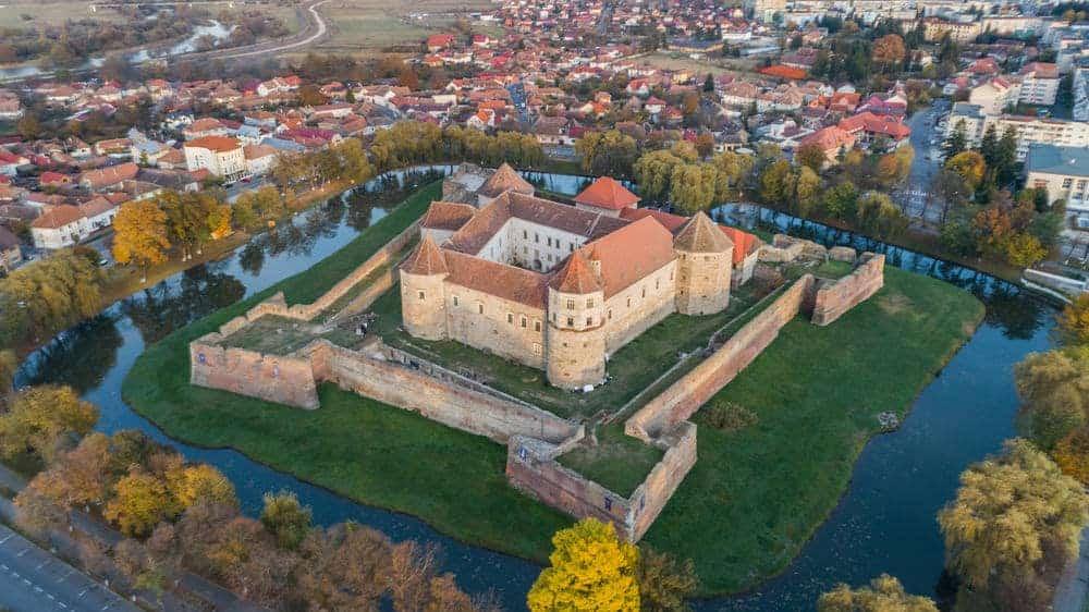 Fagaras Fortress (aerial view)