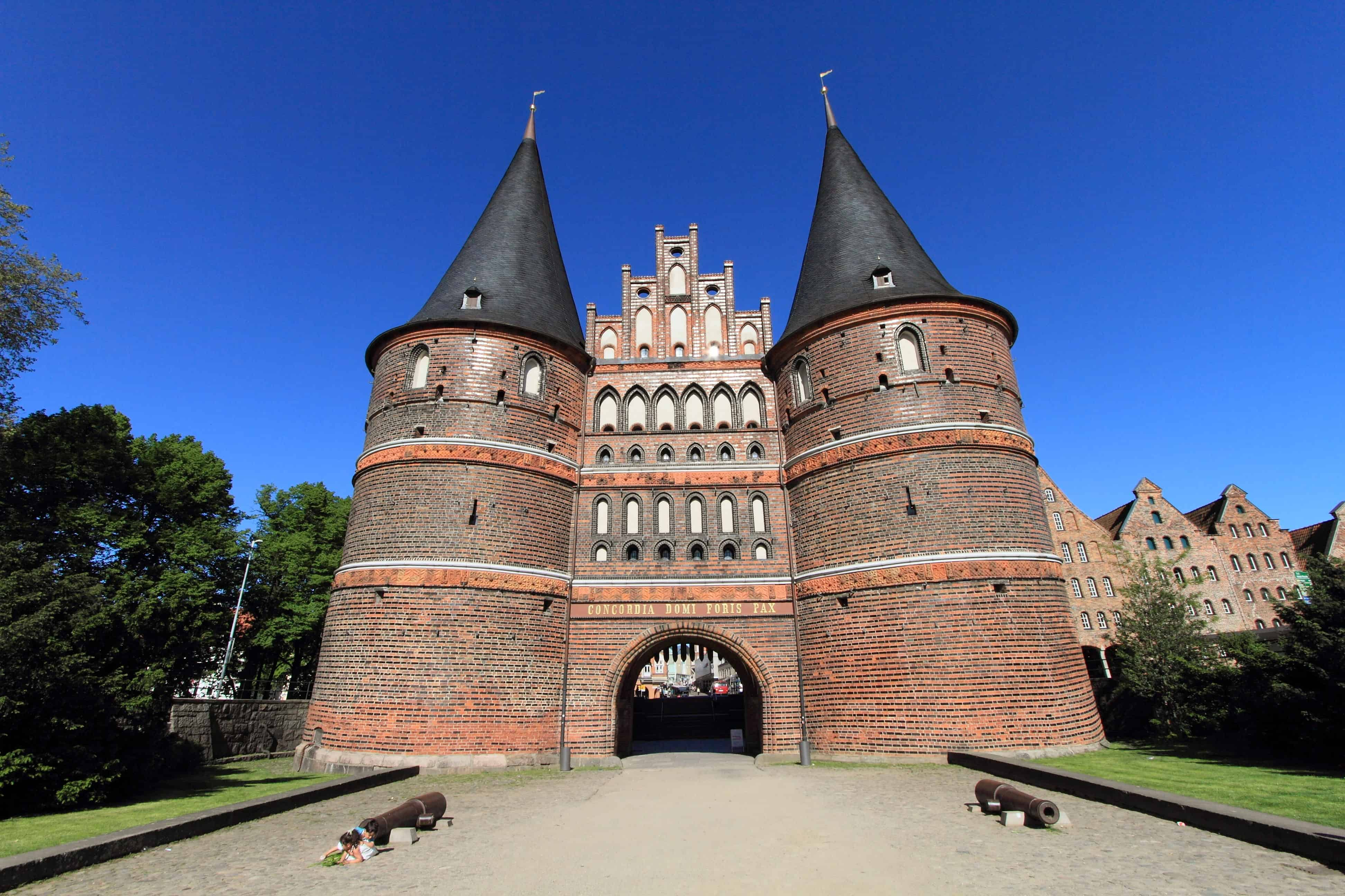 Holstentor gate of Lubeck