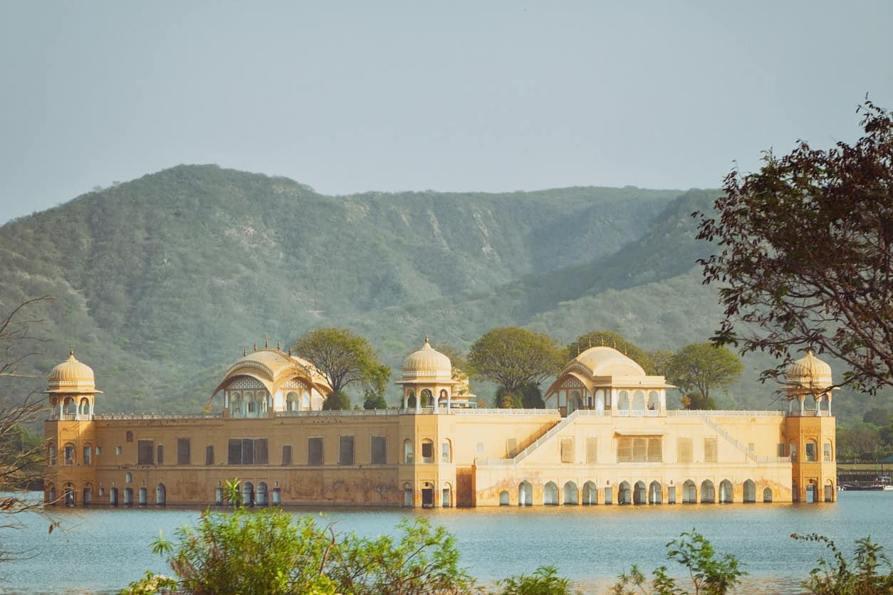 Jal Mahal (Water Palace) on Man Sagar Lake in Jaipur, India