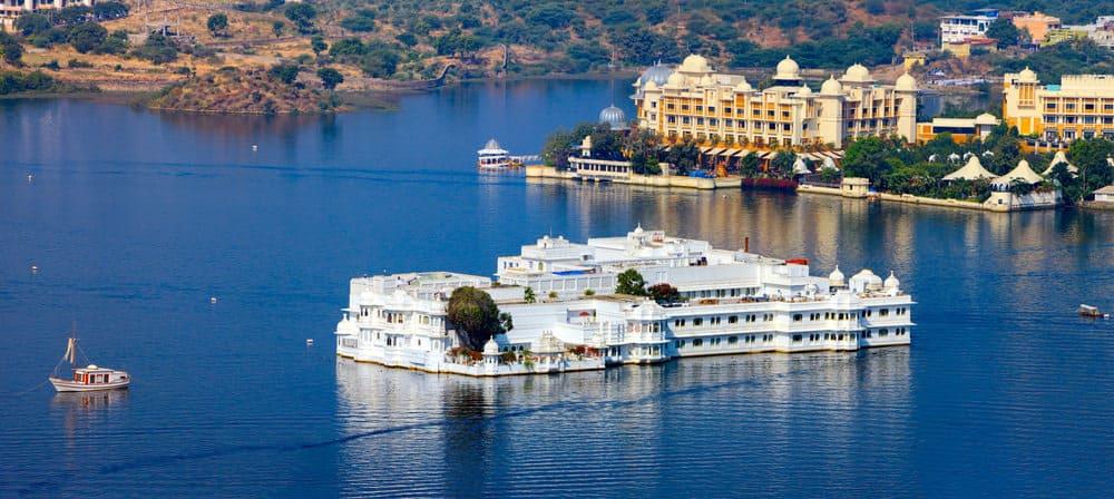 Lake Pichola and Taj Lake Palace