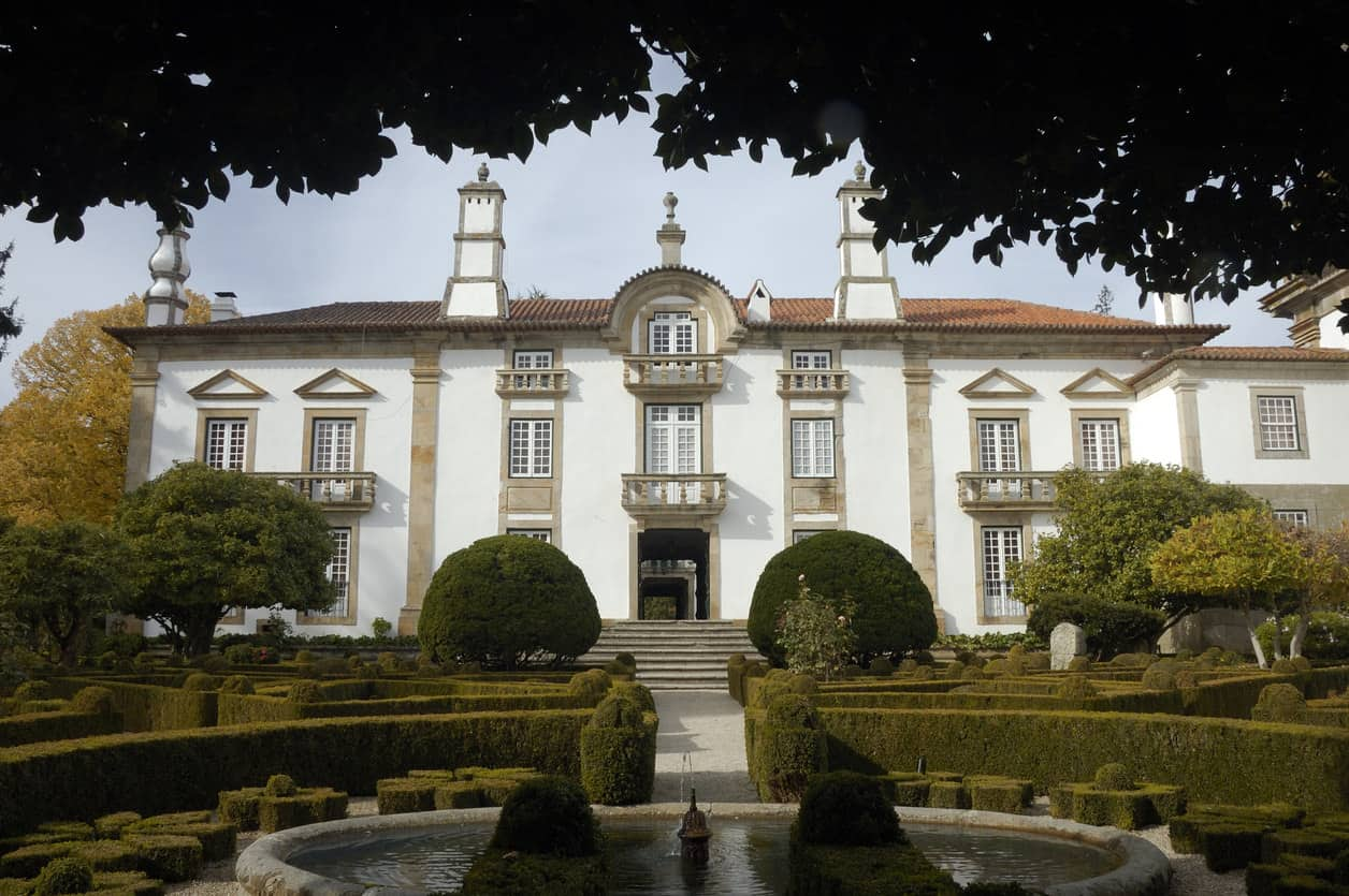 Back side of Mateus Palace.