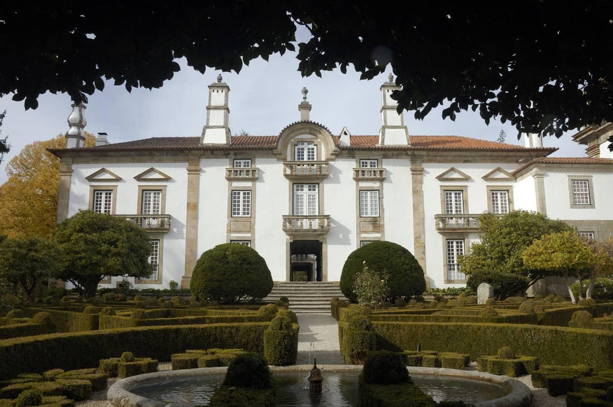 Back side of Mateus Palace.