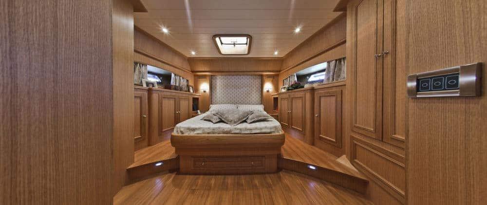 Morgan 70 foot Lobster luxury yacht - bow primary bedroom