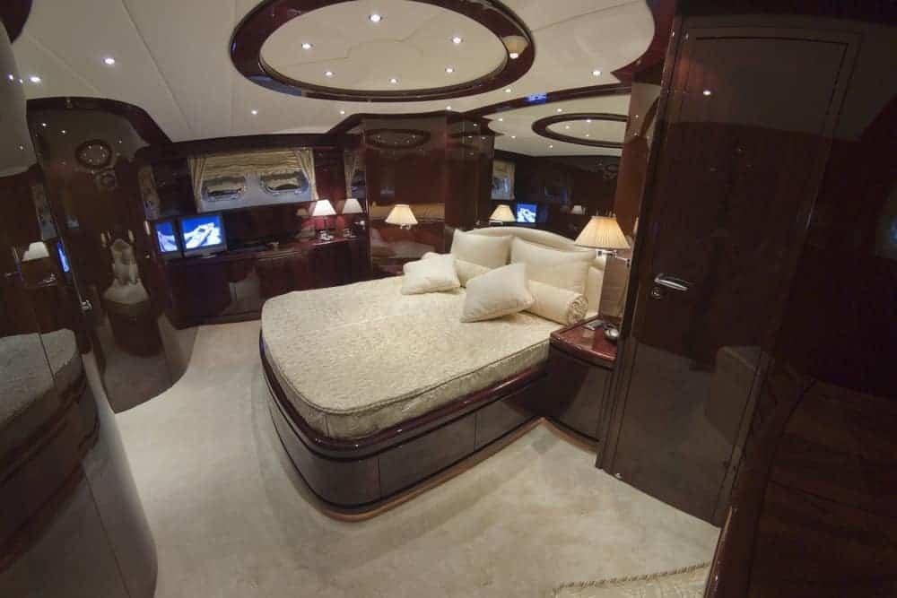 Nice bedroom dark wood yacht