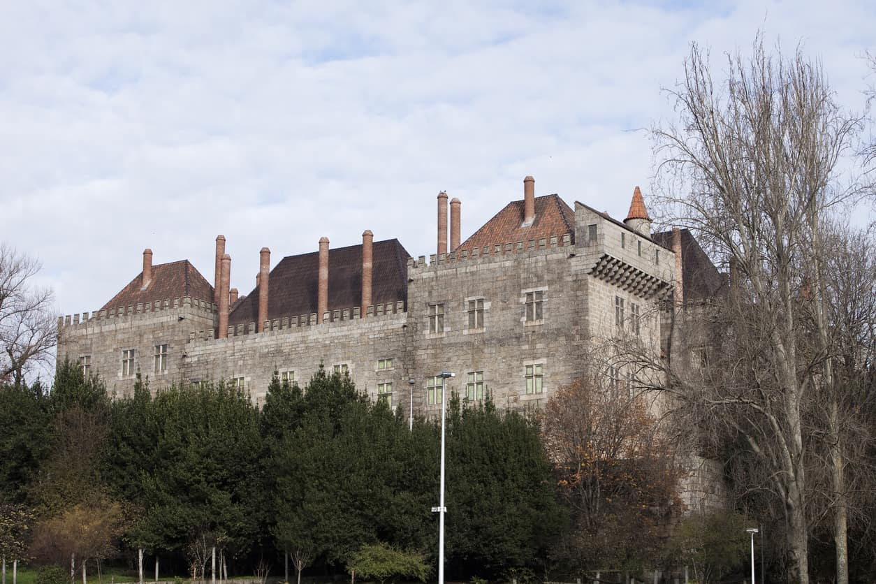 Palace of the dukes of Braganca, built in the 15th century, in Guimaraes, city north of Portugal