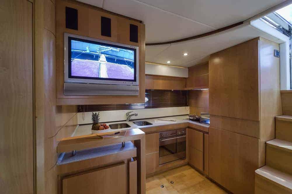 RIZZARDI 63HT luxury yacht kitchen