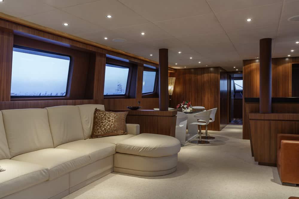Salon luxury yacht very stylish