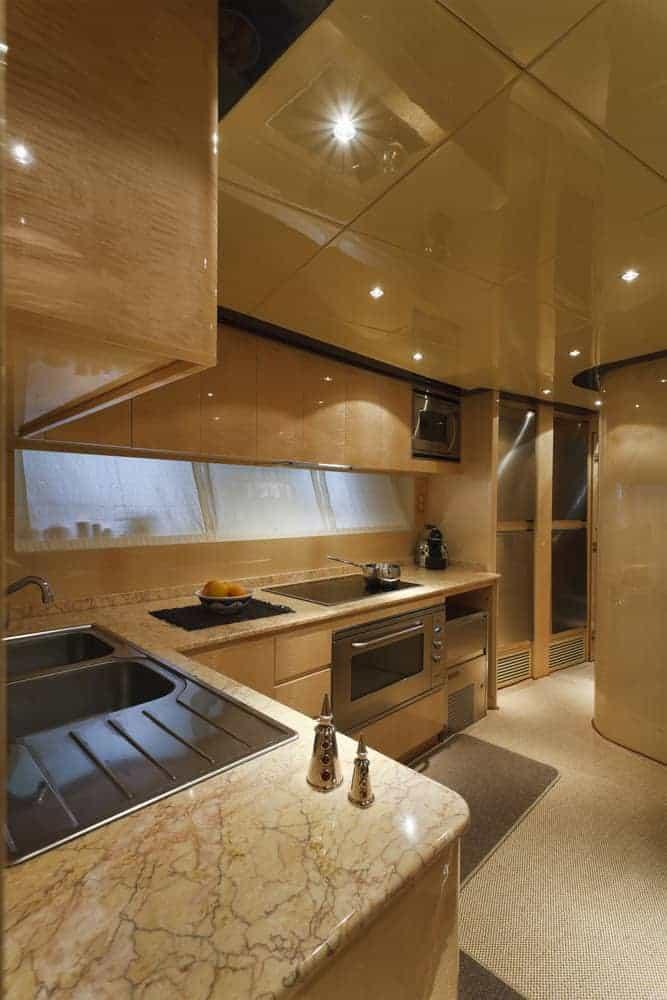 Tecnomar 35 Open luxury yach kitchen