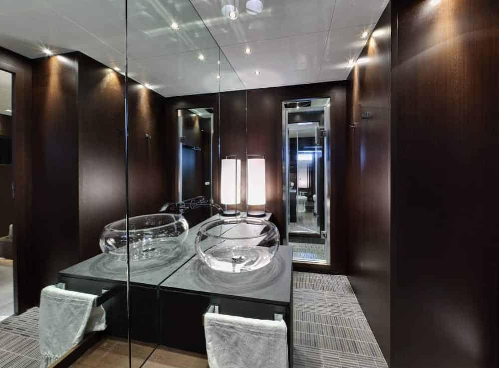 Tecnomar 36 primary bathroom interior