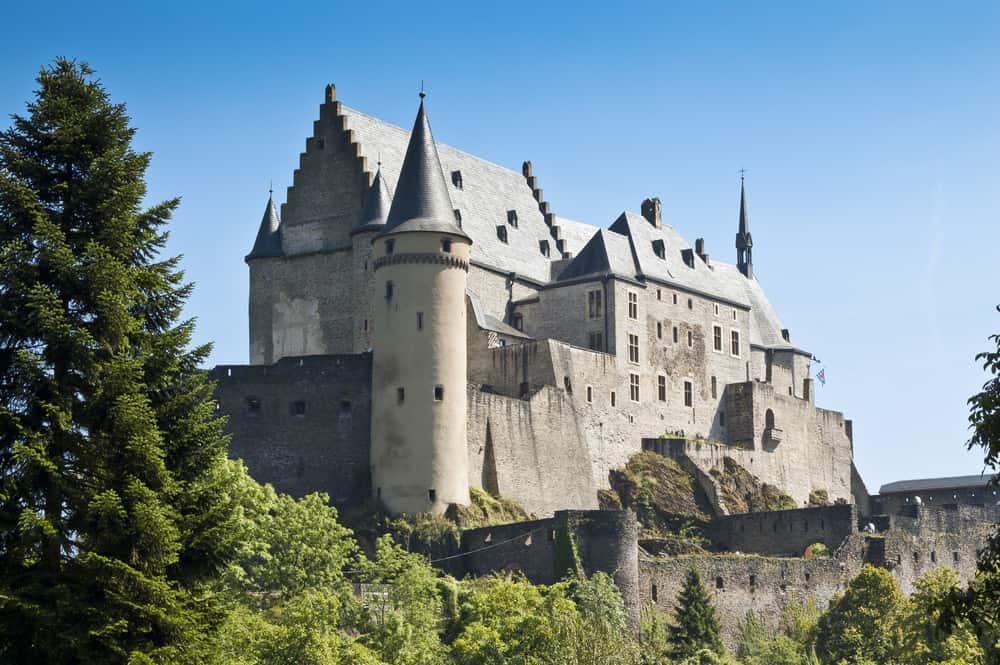 Vianden castle in Luxemberg