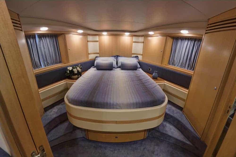 Yacht bedroom double bed