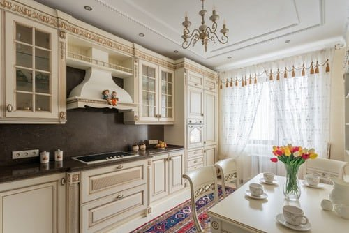 Beige kitchen.