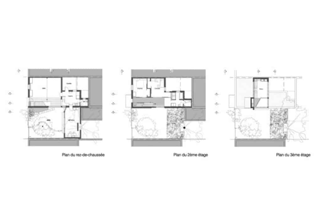 Indoor architecture plan of the house. Photo credit: Paul Bernier