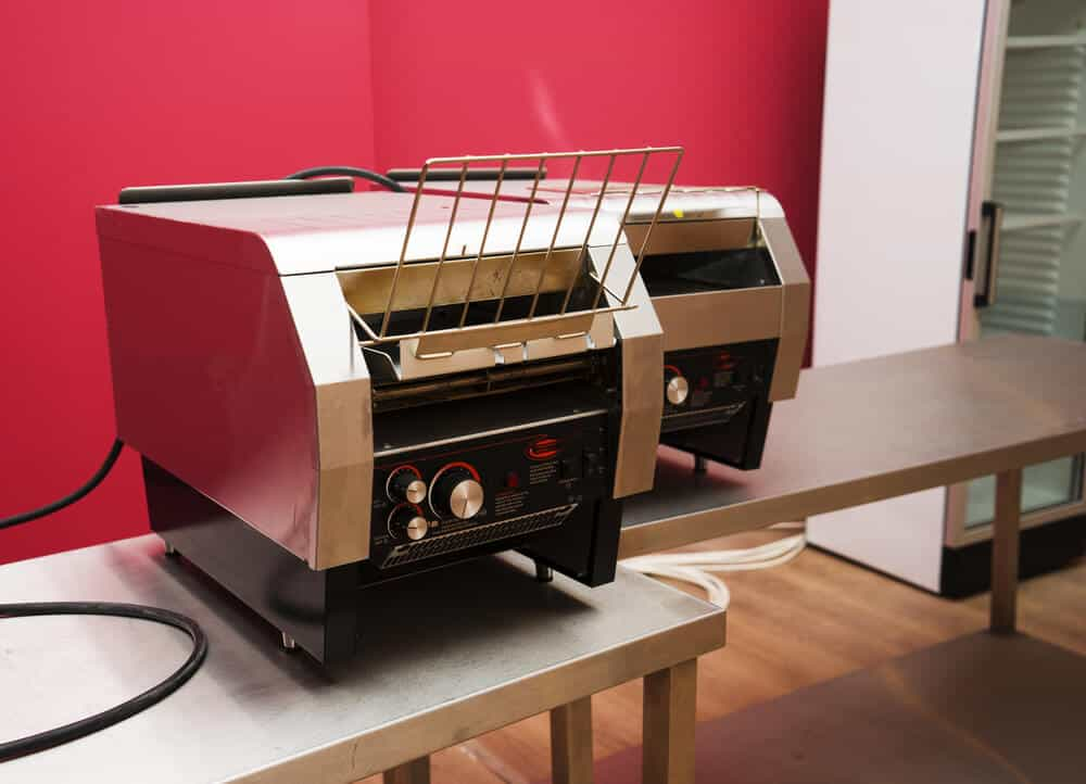 A heavy-duty, commercial toaster with full functions.