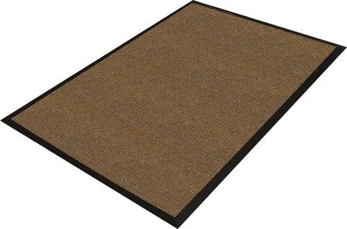 A rectangular floor mat-style boot scraper for indoor use.