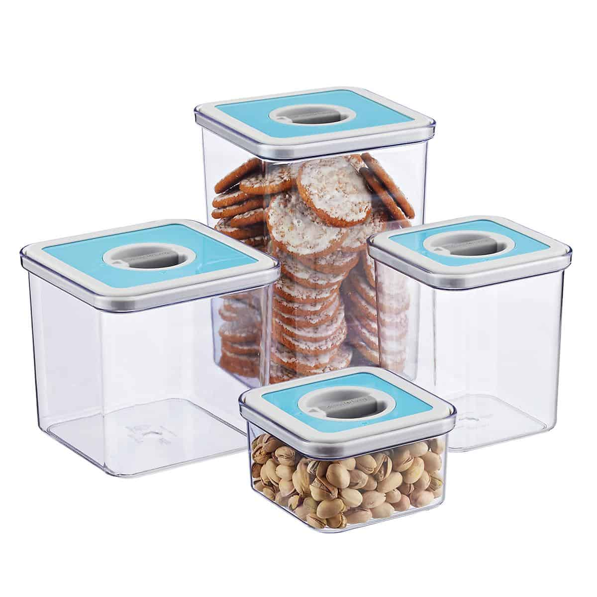 Food canisters.