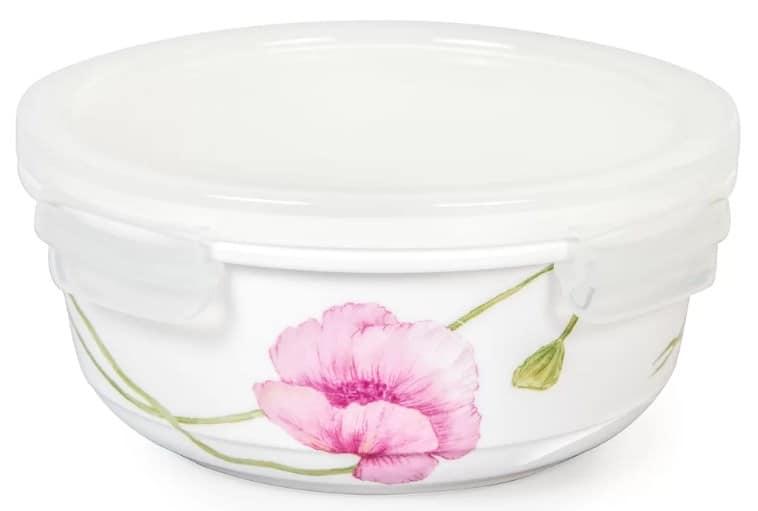 Ceramic food storage container.