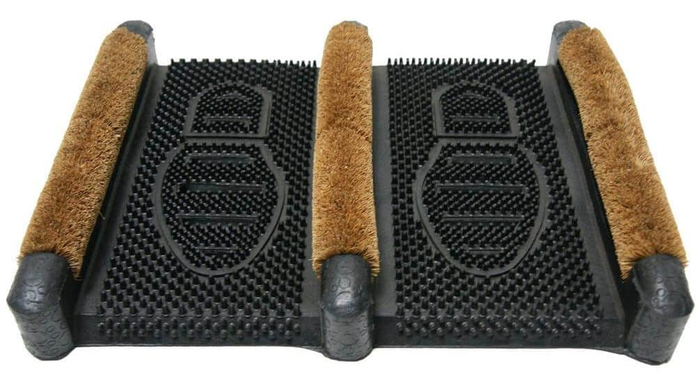 Coir boot scraper with a movable feature.