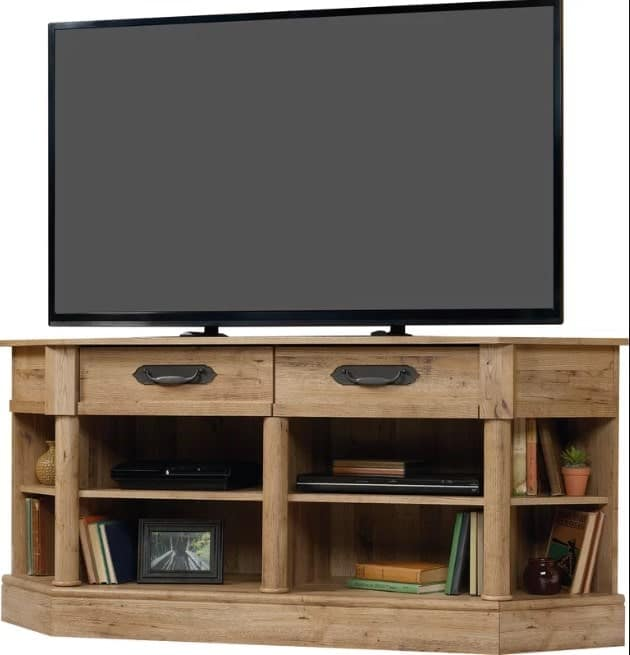 C0llier Corner TV Stand for TVs up to 60