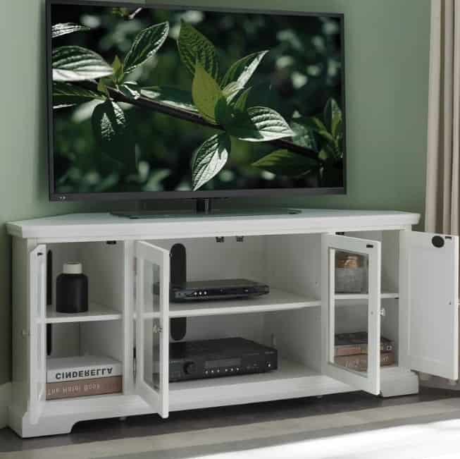 Yosef Corner TV Stand for TVs up to 60