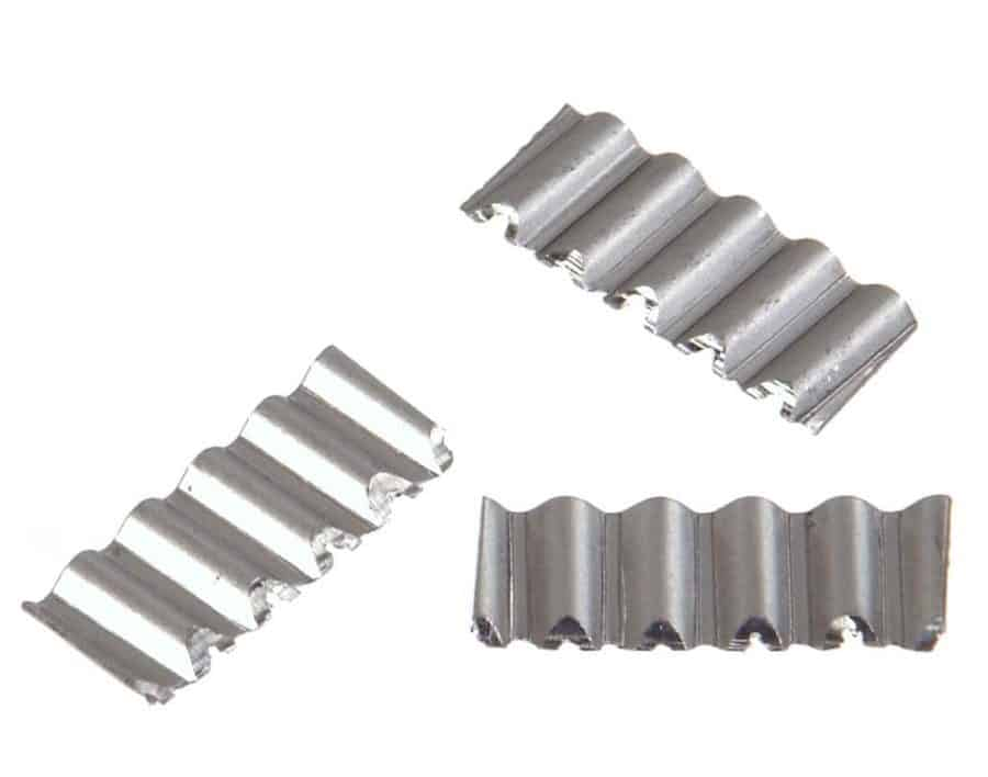 Corrugated fasteners.
