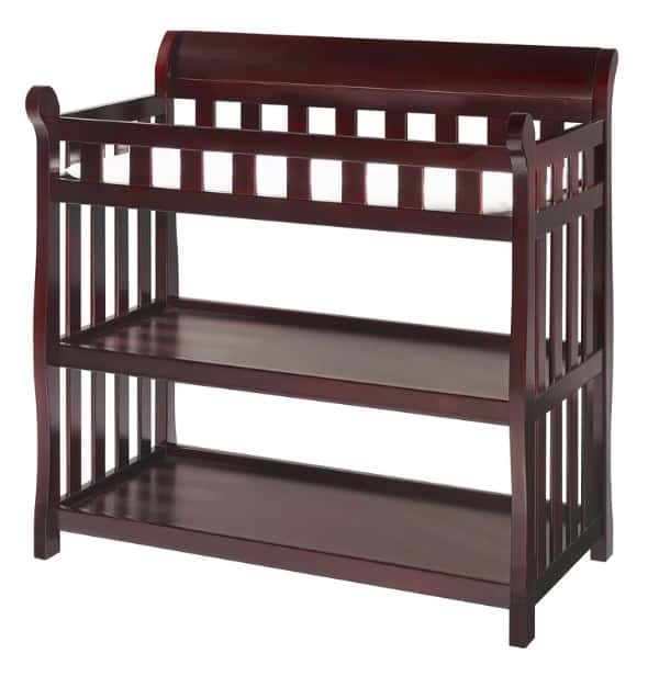 Eco-friendly baby changing table.