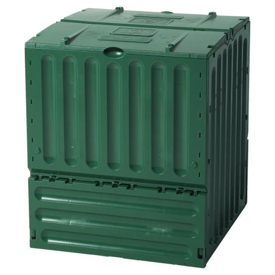 Box-type, extra large composter bin in Emerald Green.
