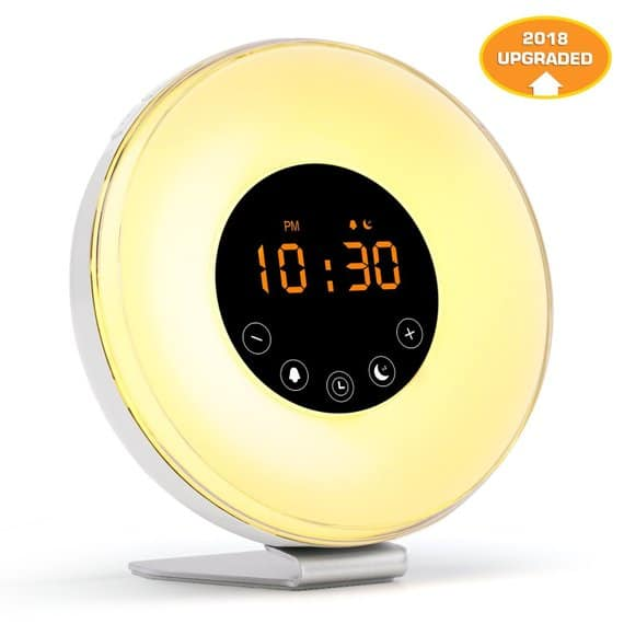 Alarm clock with wake up light