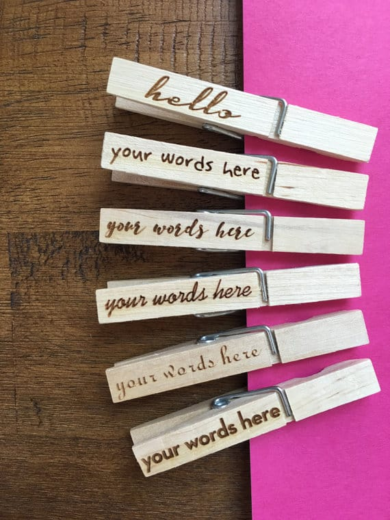 Personalized clothespin