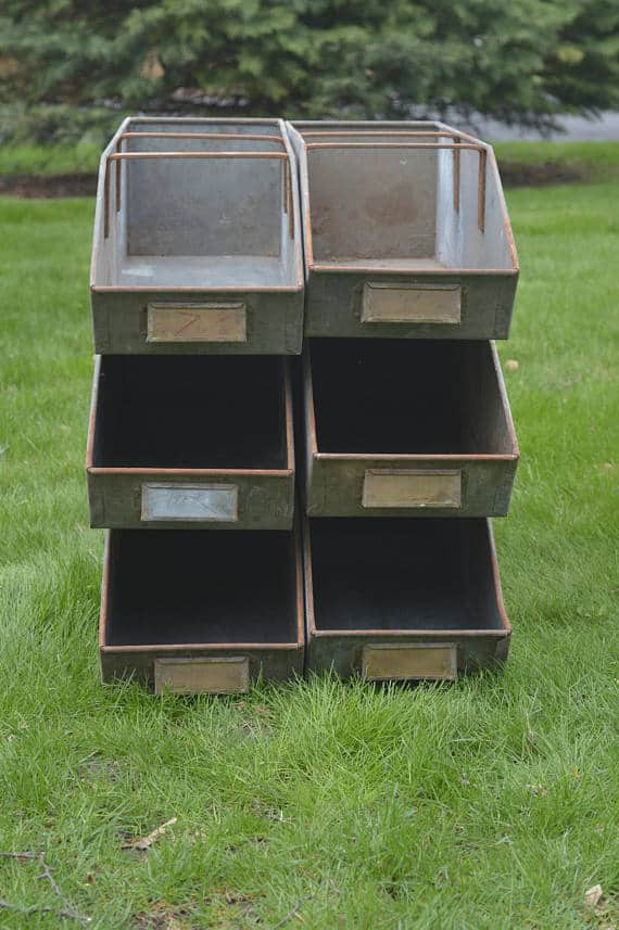 Stackable steel storage