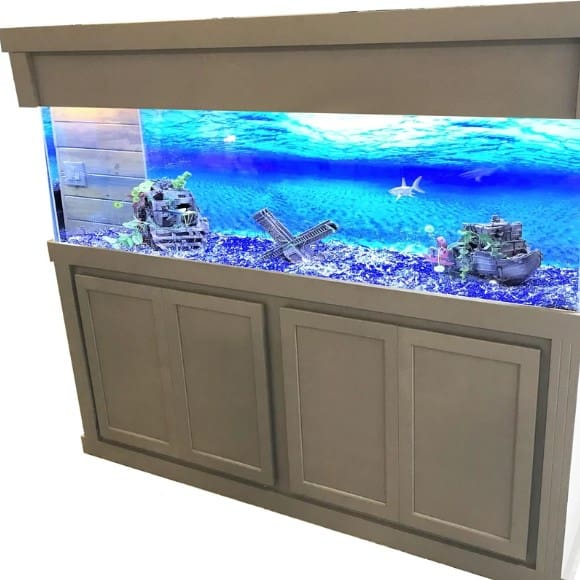 Fish tank with stand.