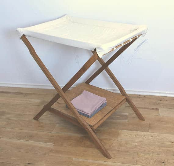 Folding baby changing table.