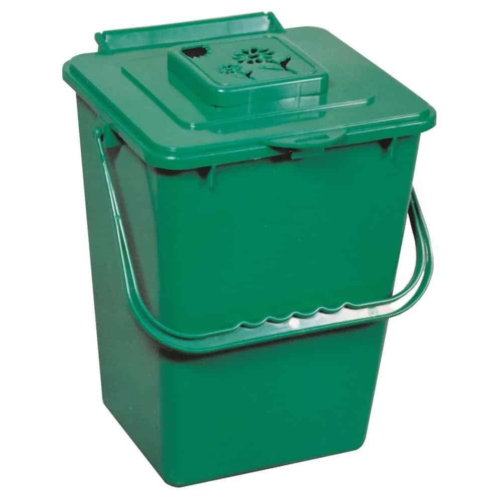 Green, kitchen compost bin.