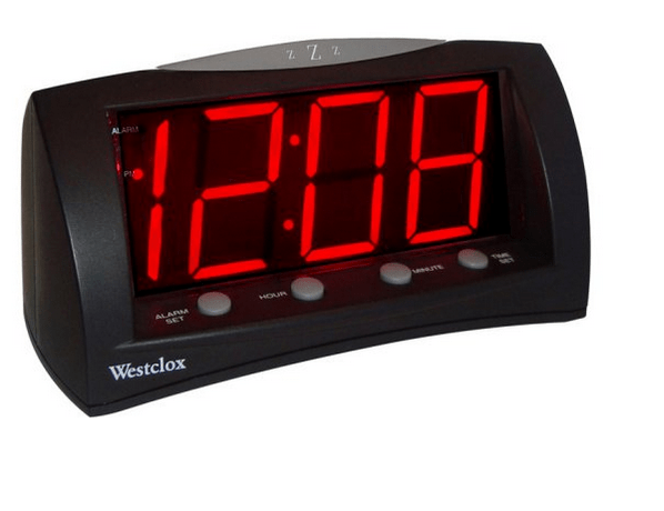 Alarm clock with jumbo numbers